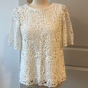 Anthropologie lace front tee